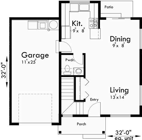 home plans seattle duplex house plans duplex plans with garages together d 597