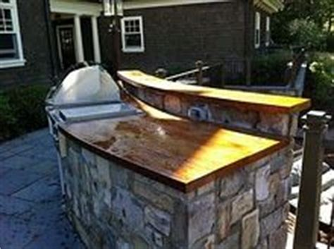 Outdoor Wood Countertop by Outdoor Kitchen With Faux Wood Concrete Countertops