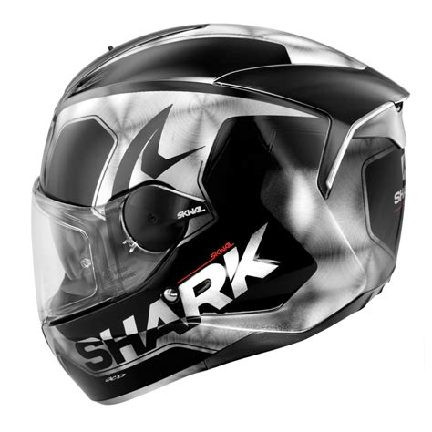 Motorradhelm Led by Shark Skwal Trion Motorcycle Helmet Black White Led Ebay