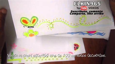 decorar hoja de vida decorando hojas de proyecto de vida youtube