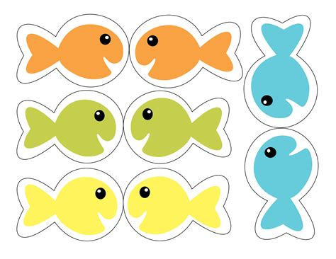 printable numbers on fish patties primary place let s go fishing for songs