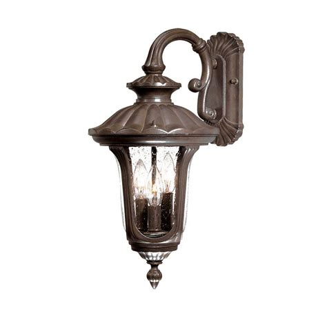 Outdoor Wall Mount Light Acclaim Lighting Augusta Collection 3 Light Burled Walnut Outdoor Wall Mount Light Fixture