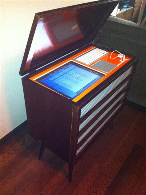 I Mu Magic Audio Device Makes Your Furniture Sing To You by Before After 1960 S Stereo Cabinet Turned Into 50 000