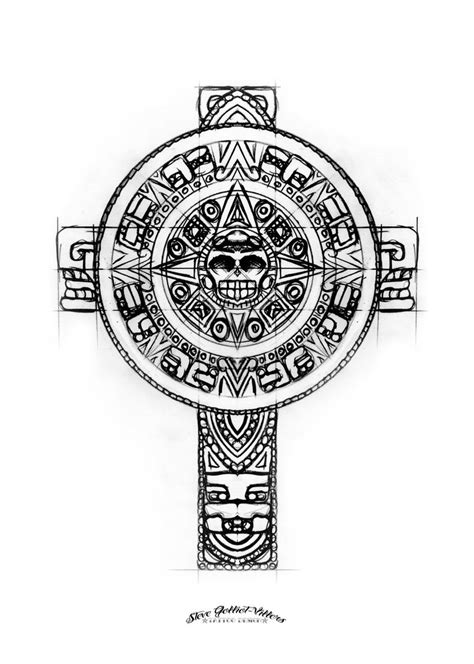 aztec cross tattoo aztec cross sketch by stevegolliotvillers on deviantart