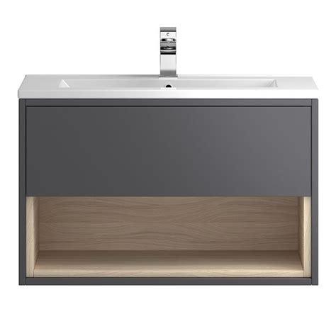 Bathroom Vanities Coast by Coast Designer 800mm Grey Gloss Bathroom Vanity Unit