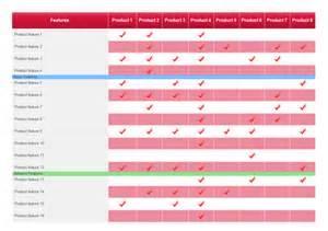 product comparison table free product comparison table