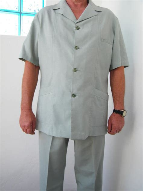 suits s light sea green safari suit by sterling was