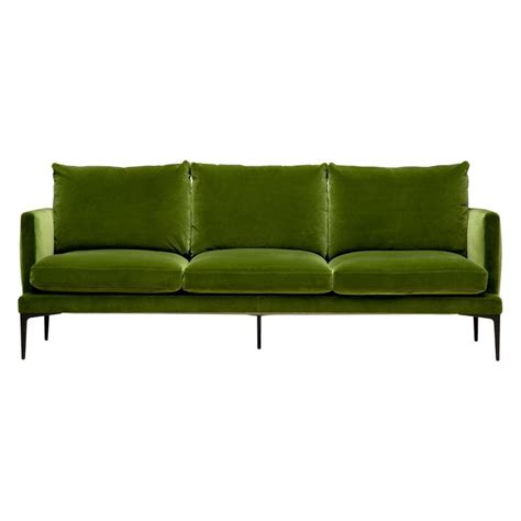 Olive Green Sectional Sofa by Clarence Sofa In Olive Green Velvet Green Velvet Sofa