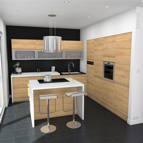 cuisine bois nature et d馗ouverte cuisine en bois sans poign 233 e ipoma ch 234 ne naturel nattes
