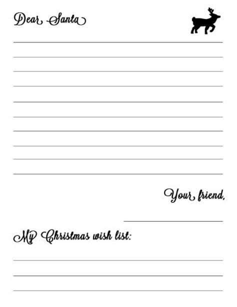 Letter To Santa Template Black And White New Calendar Template Site Letter Template Black And White