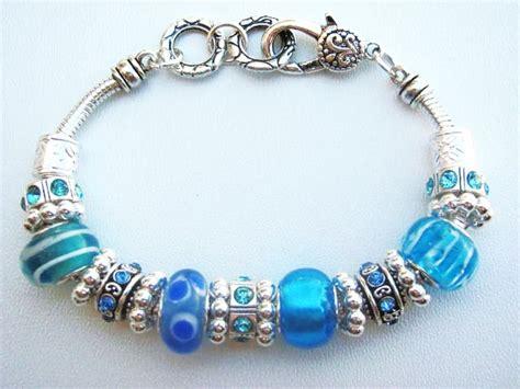 glass bead bracelet turquoise blue murano glass bead bracelet pandora inspired