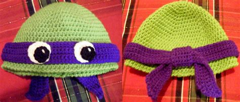 knitting pattern for ninja turtles teenage mutant ninja turtle hat crocheted by arexandria