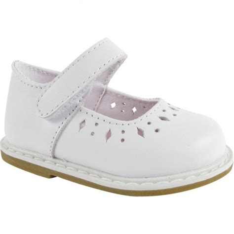 baby deer 174 6316 white leather walking stage shoe with