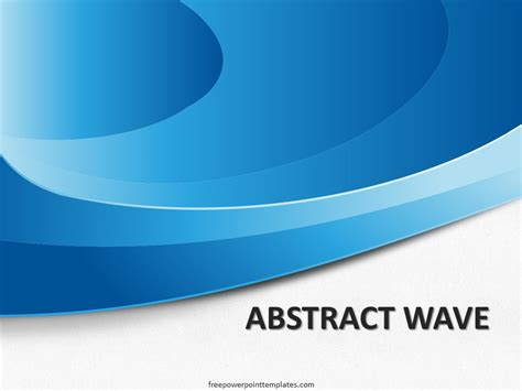 blue ppt themes free download free abstract blue wave powerpoint template
