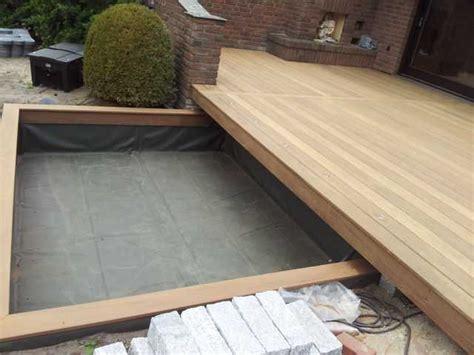 terrasse mit teich holzterrassen bilder