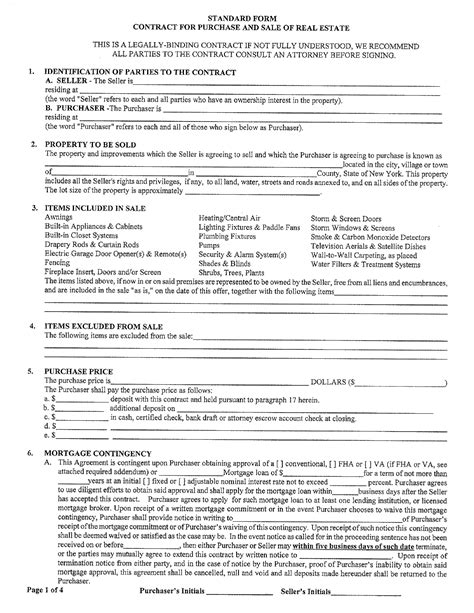 Offer Letter New York Free New York Offer To Purchase Real Estate Form For Pdf