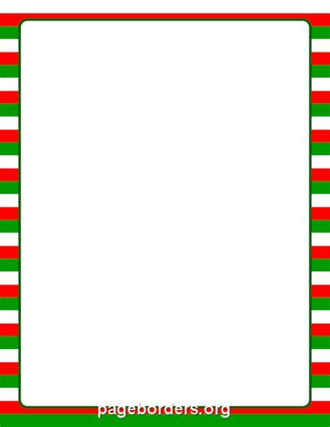 Red Stripe Boarders Christmas | christmas striped border clip art page border and
