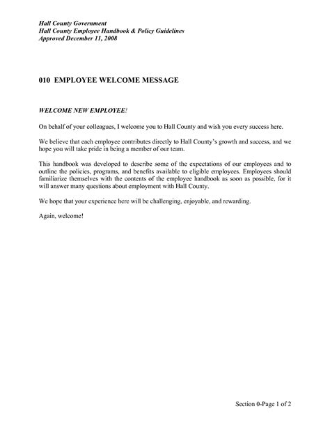welcome aboard letter new employee welcome message gallery