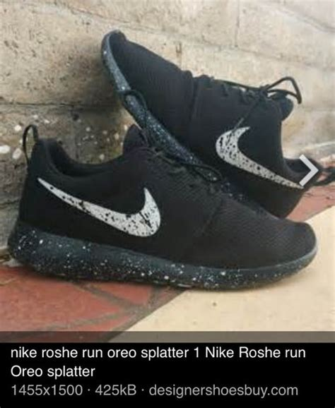 shoes nike black oreo speckled black and white white