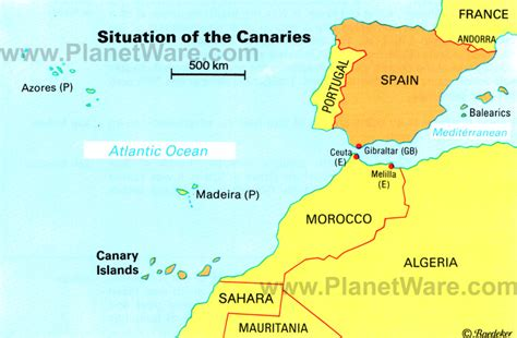 canary islands map traveler al s wanderings