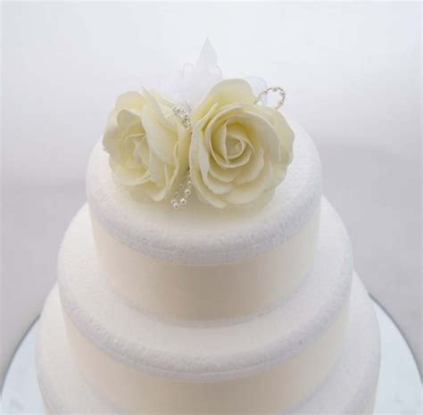 flower wedding cake topper ivory foam wedding cake topper with pearl loops s flowers