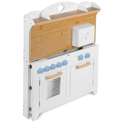 Kitchen Playset the chef s foldaway kitchen playset hammacher