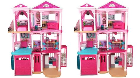 youtube barbie dream house barbie dream house 2015 unboxing assembly دمية باربي البيت casa de boneca barbie youtube