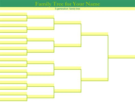 multi option family tree template  excel templates