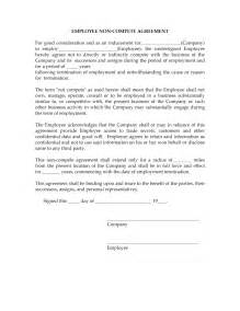 non compete agreement tempalte freewordtemplates net