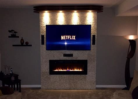 In The Wall Electric Fireplace by Napoleon Efl50h Linear Wall Mount Electric