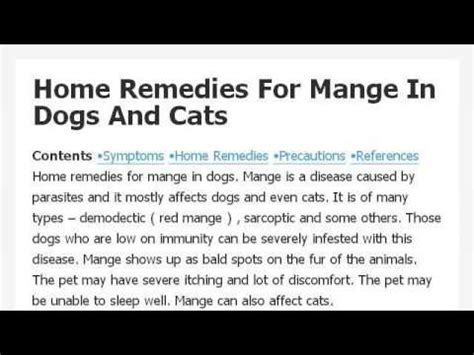 home remedy for mange on a rabbit