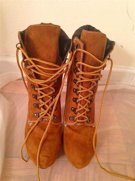 timberland like high heel boots ebay