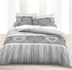 Grey Stripe Duvet Cover Housse Couette Grise Blanche