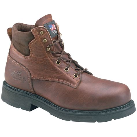 thorogood s american heritage steel toe 6 quot work boot 804 4203 wide width available brown