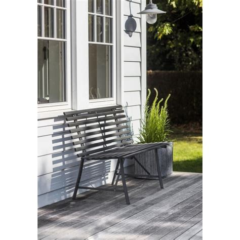 garden trading bench garden trading battersea steel garden bench black by design