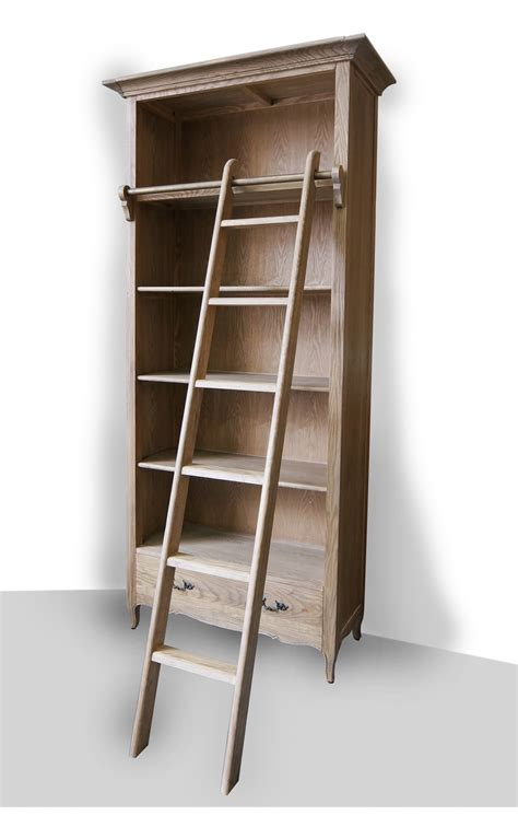 Ladder Bookcases For Sale Provincial Library Bookcase In Natrual Oak With Ladder