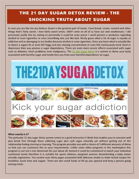 Sugar Detox Diet Reviews by 21 Day Sugar Detox Review The Shocking About Sugar