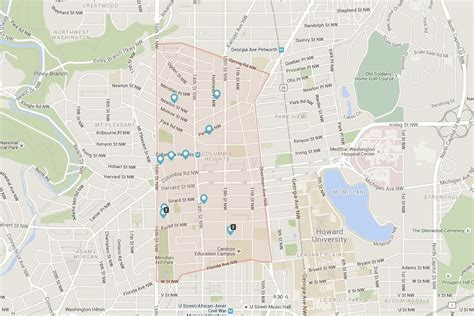 washington dc nightlife map columbia heights a lively multicultural community in