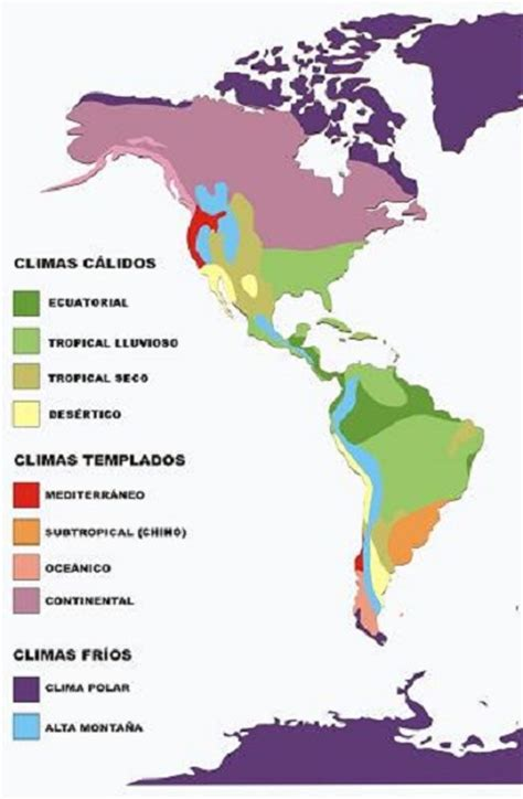 america mapa de climas bienvenidos a conociendoamerica principales
