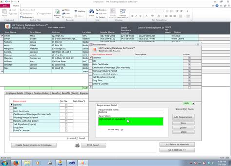 access hotel management system software database templates for