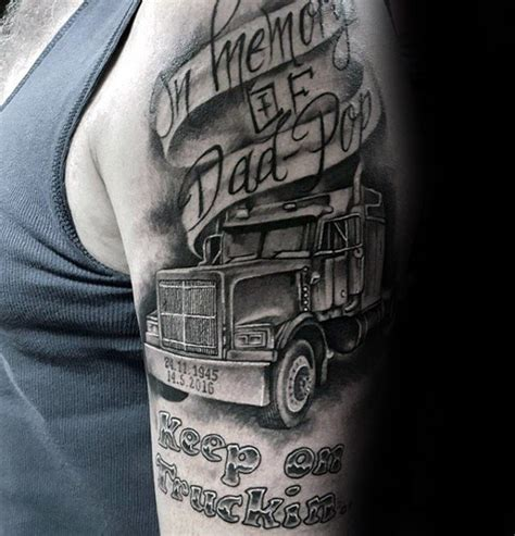 trucker tattoos 100 memorial tattoos for timeless tribute design ideas