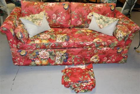 floral print couches floral print sleeper sofa with loads of accent pillows