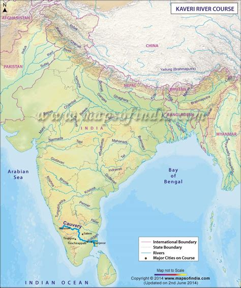 route map from usa to india kaveri river map