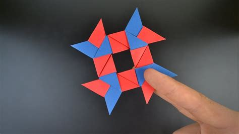 Origami Shuriken 8 Point - origami 8 pointed shuriken in