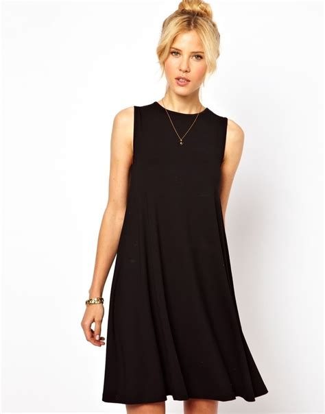 trapeze swing dress sleeveless swing dress