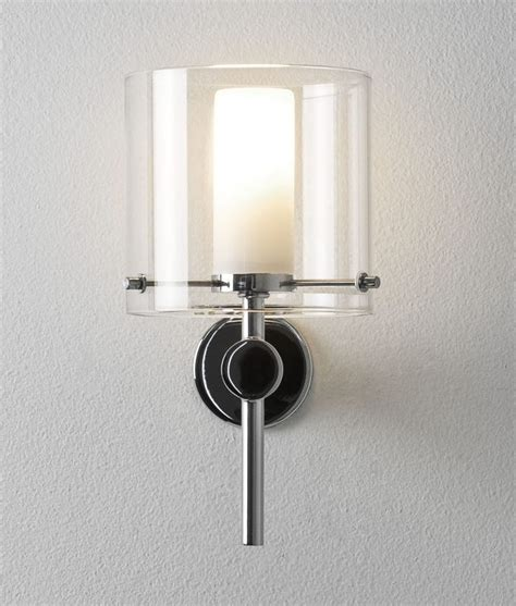 stylish dual glass wall light