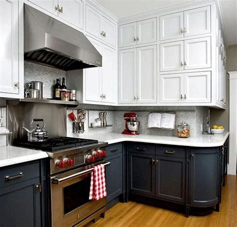 want a bigger brighter kitchen get the two toned look