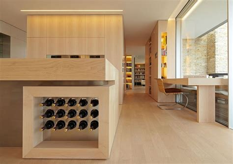 kitchen island with wine storage wine storage built into the kitchen island elgantly decoist