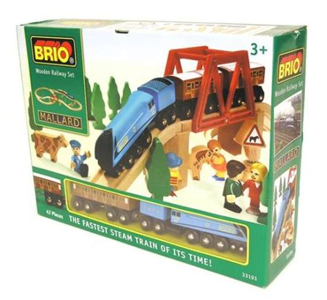 brio trains uk brio 33191 wooden railway system mallard train set model