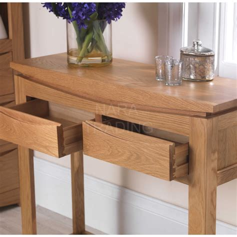 Hallway Table With Drawers Crescent Solid Oak Hallway Furniture Console Table With Drawers Ebay